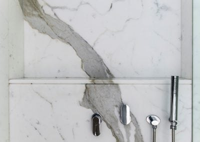 Calacatta-marble-shower-wall-detail
