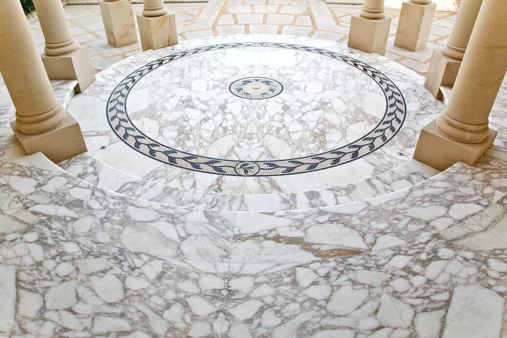 arabescato marble entry foyer pattern 2