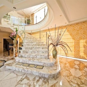 arabescato marble spiral staircase