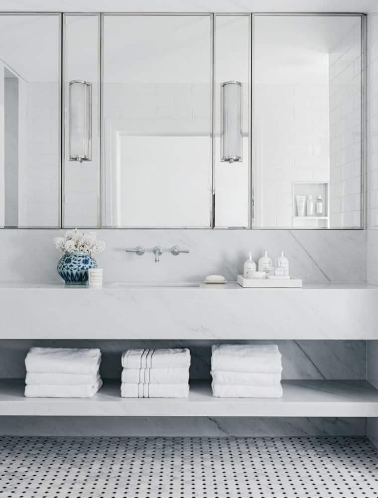 Carrara-marble-vanity-and-splashback