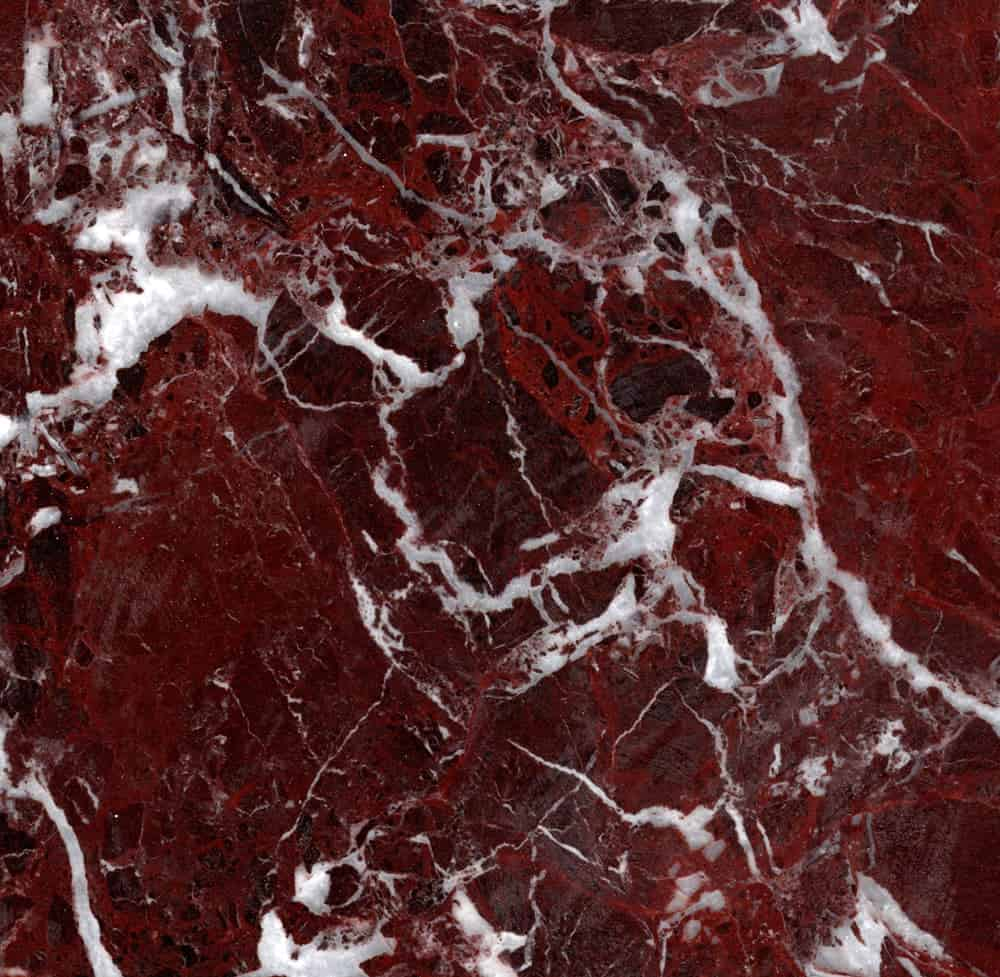 Rosso Lepanto Dramatic Red Marble Holds Delicate