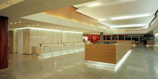 Sydney-business-class-lounge-Calacatta-wall-cladding