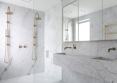 Carrara-marble-bespoke-vanity-and-bathroom-walls