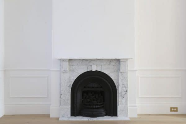 carrara marble fireplace mantle