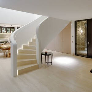 travertine navona floor and staircase