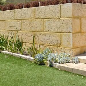 Limestone Block Retaining Wall
