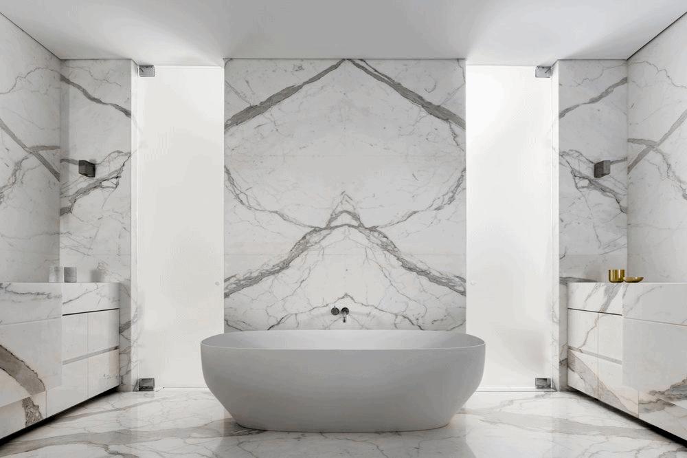 Calacatta marble master ensuite