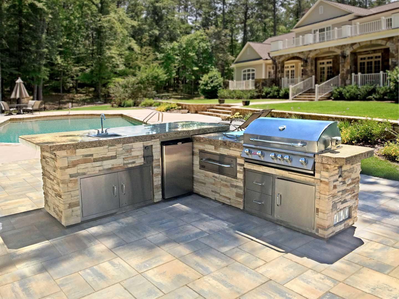 Outdoor Kitchen Island Benches