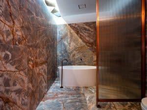 Breccia Marble Bathroom