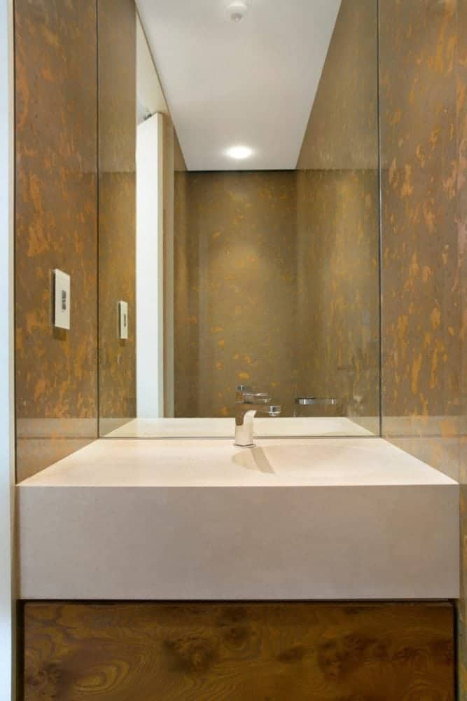 desert brown marble wall cladding and travertine navona solid basin