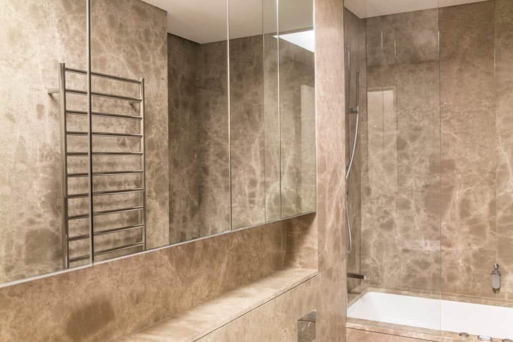 giallo venus marble bathroom