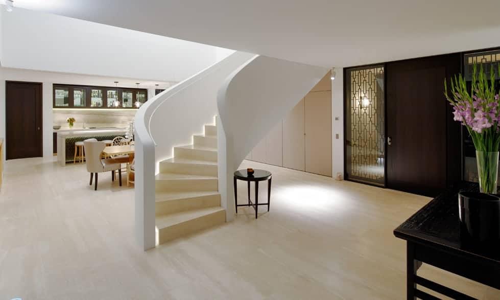 travertine navona floor and staircase