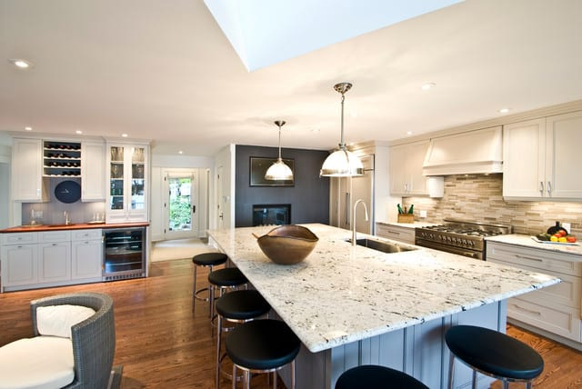 White Granite Kitchen 1